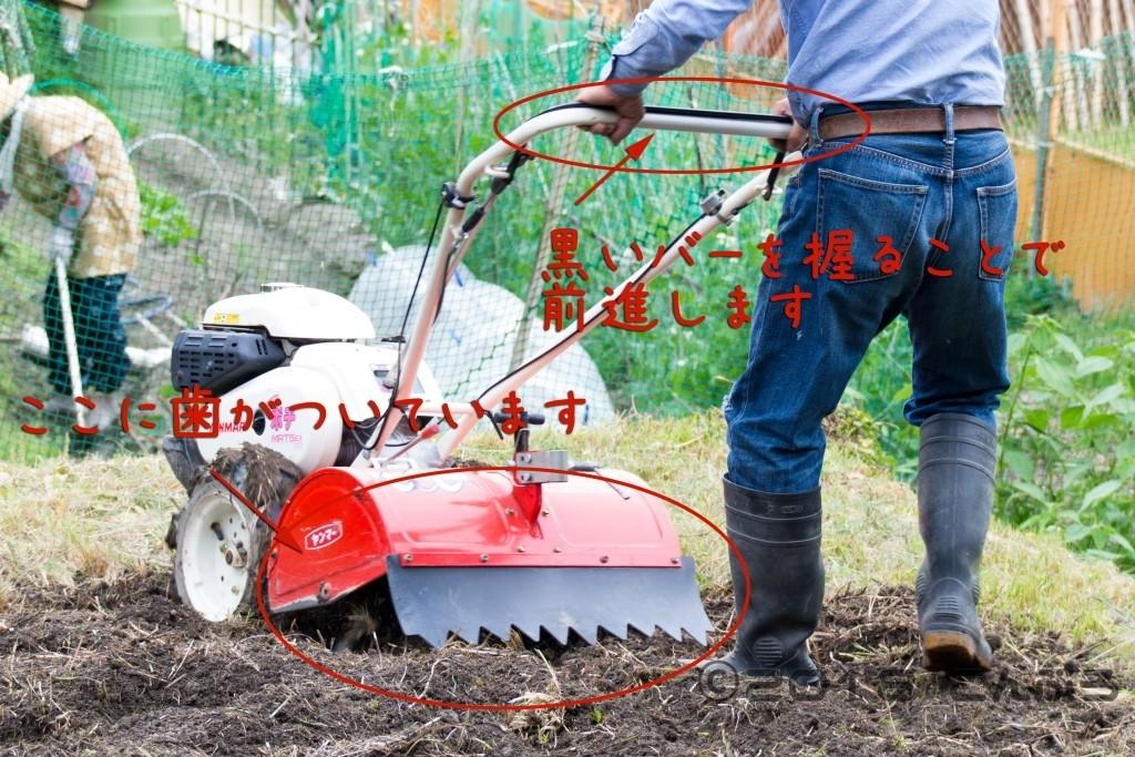 家庭用耕運機の使い方