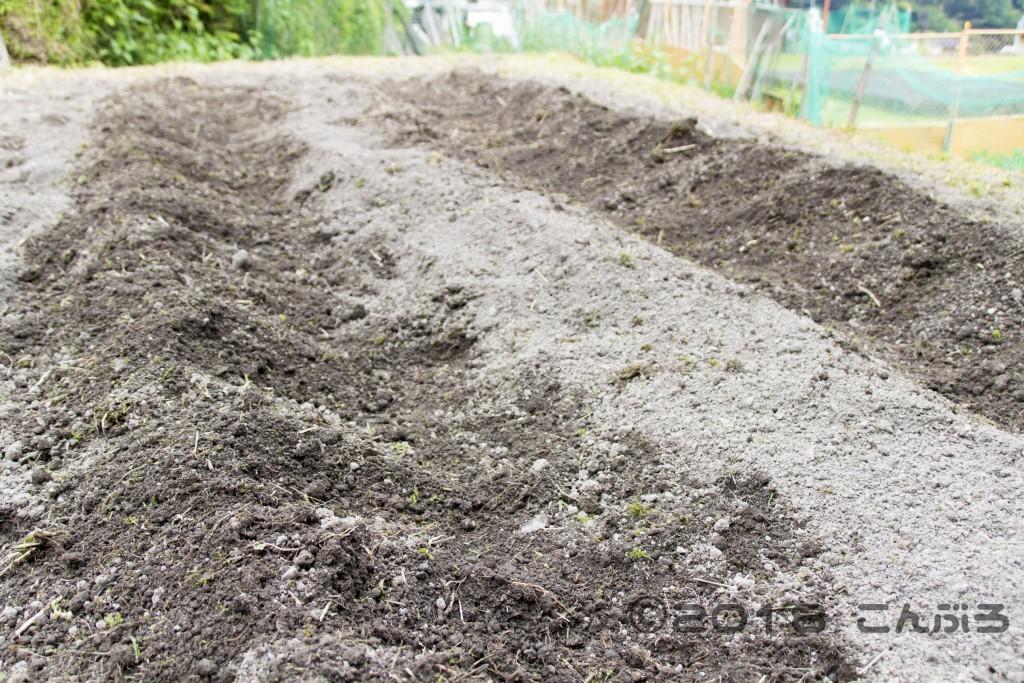 堆肥をまく前