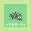 水草農薬の除去