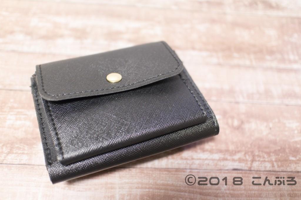 ミッキーマウスレザー調財布裏面のコインケース