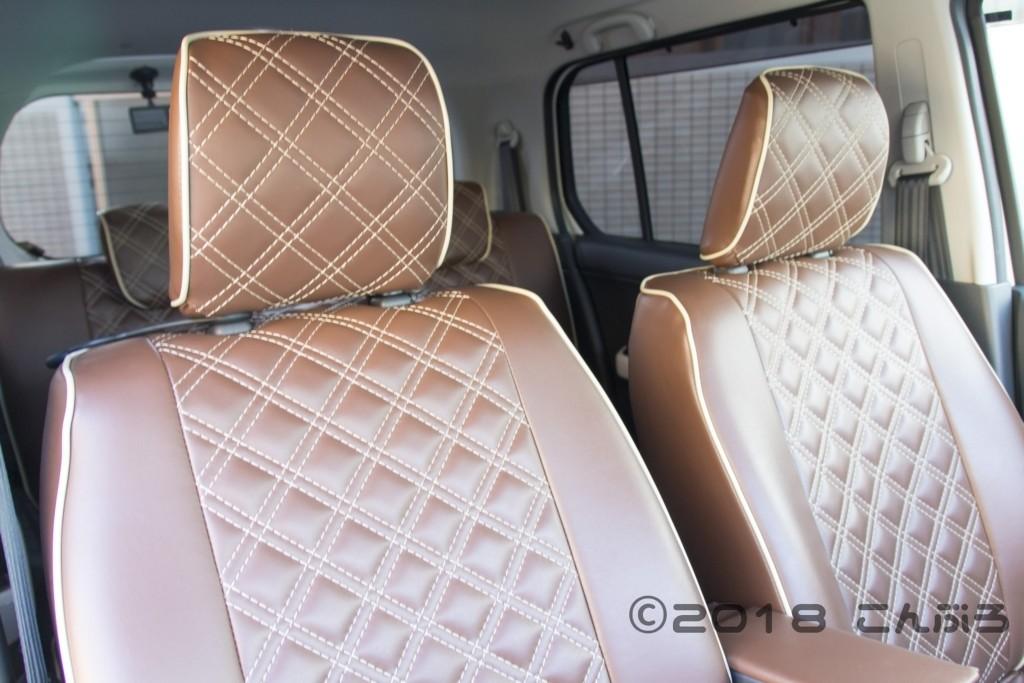 軽自動車用クラッツィオシートカバー装着例