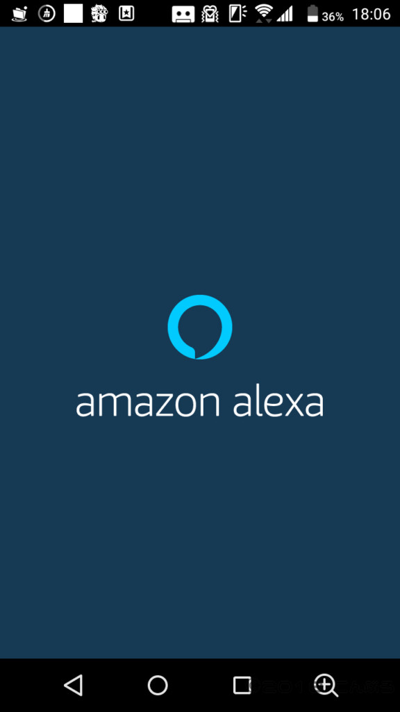 アレクサアプリ起動画面