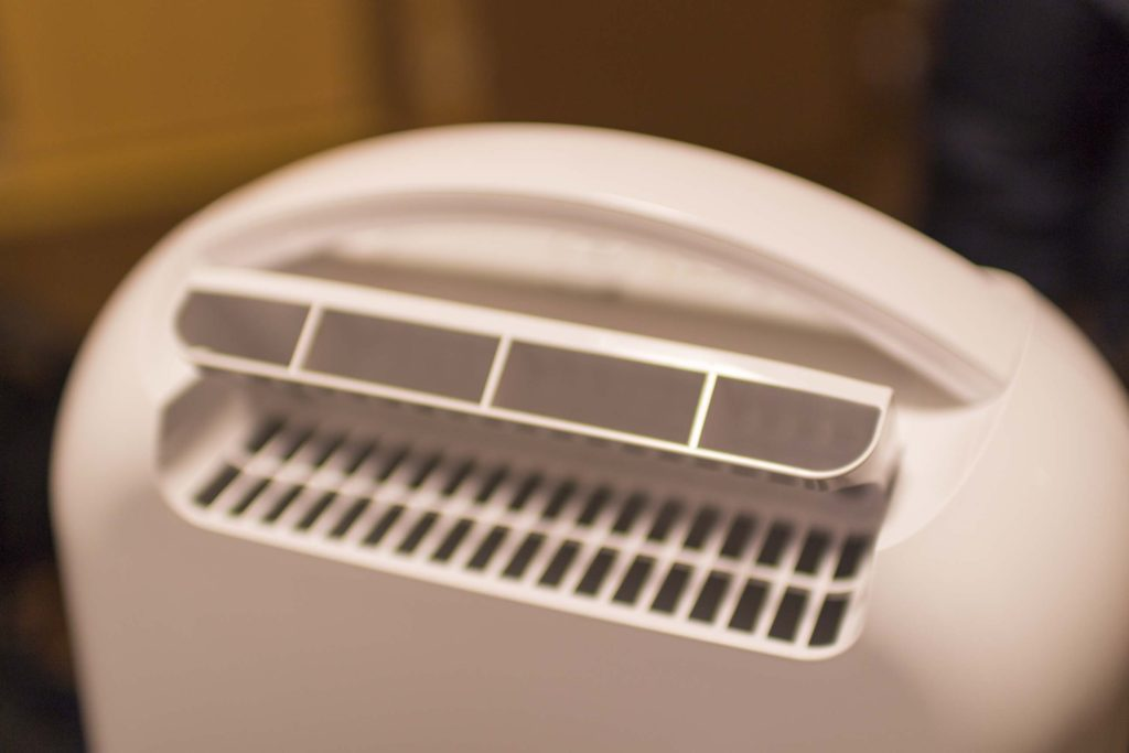 安い除湿器の吹き出し口