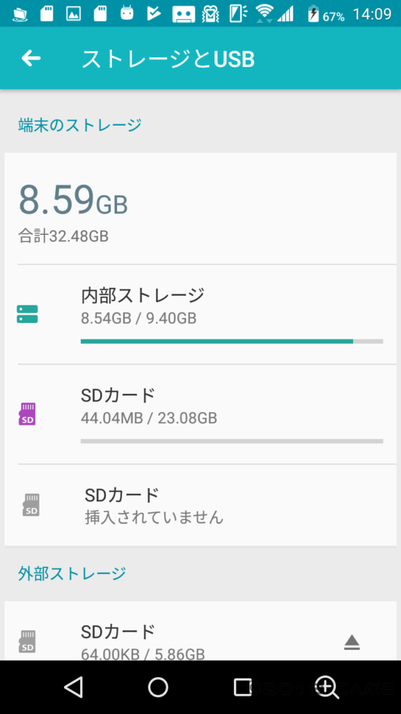 SDカード内蔵ストレージ化