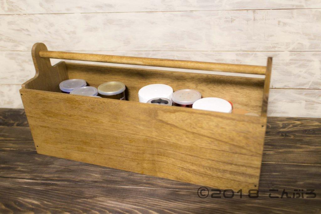 100均材料で製作したスパイスボックス