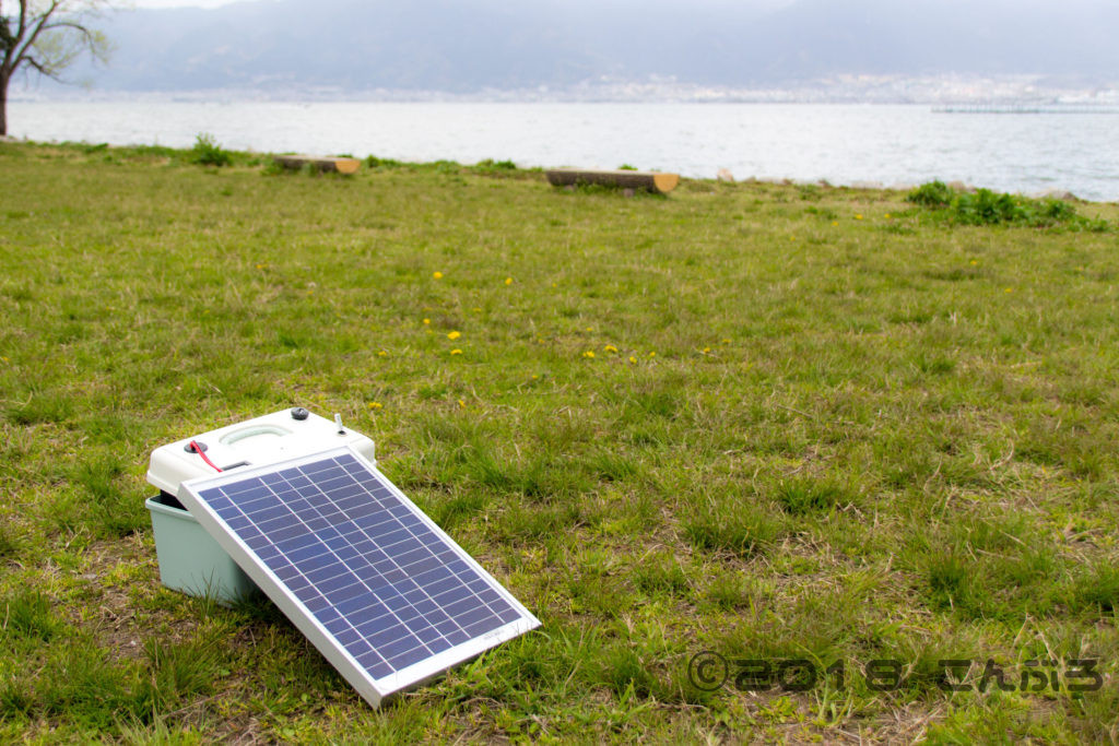 自作ポータブルバッテリーのソーラー充電