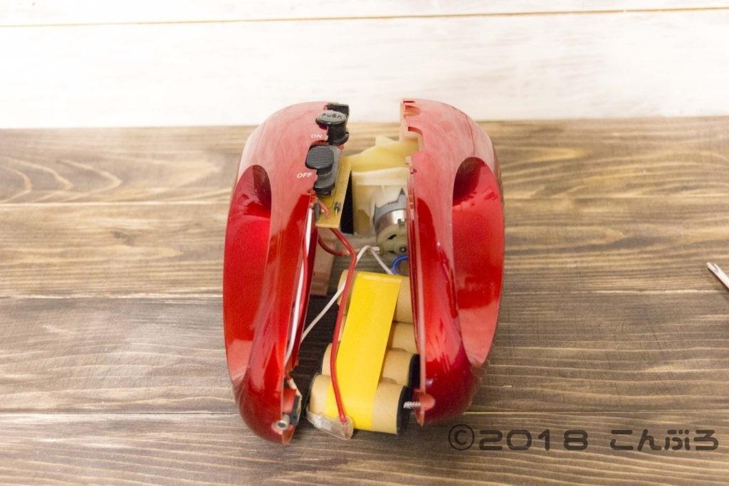 ハンディークリーナーのバッテリー交換で分解