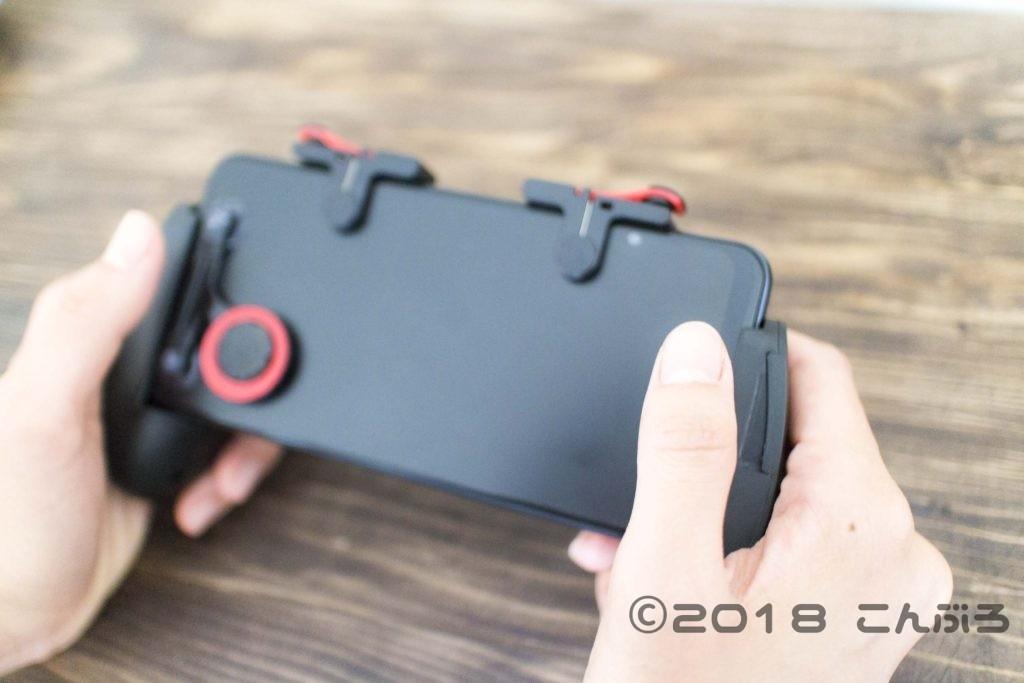 Zenfoneにゲームコントローラー装着