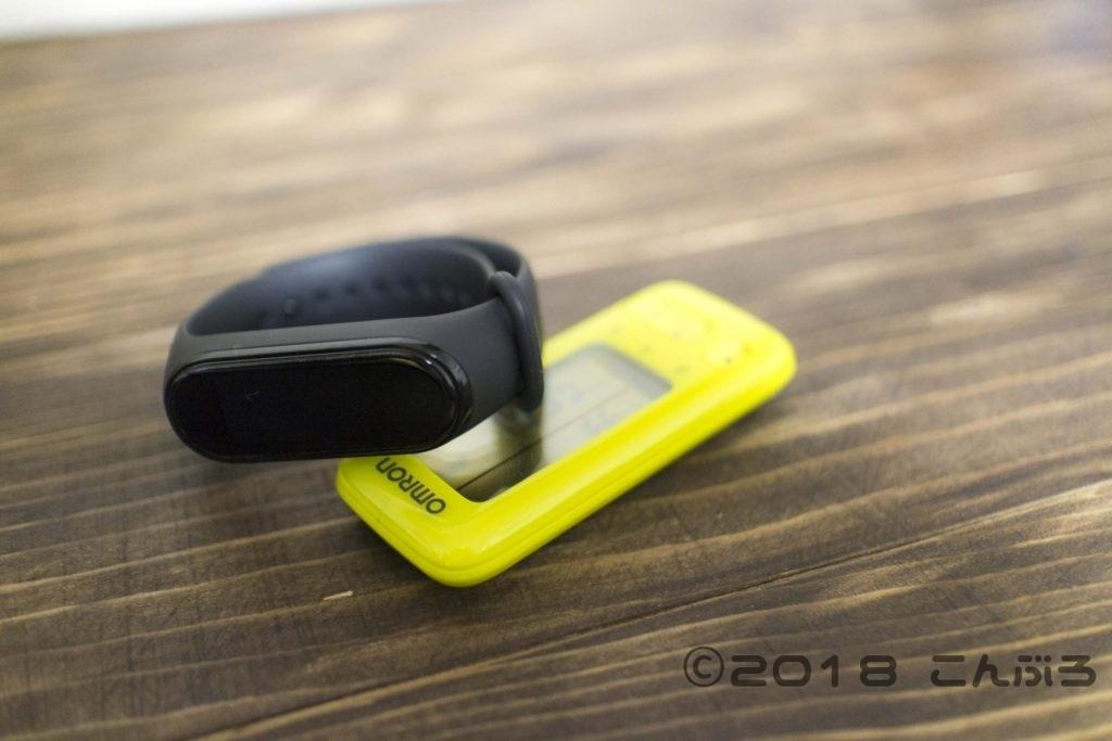 Xiaomi Mi Band 4 歩数計の精度比較