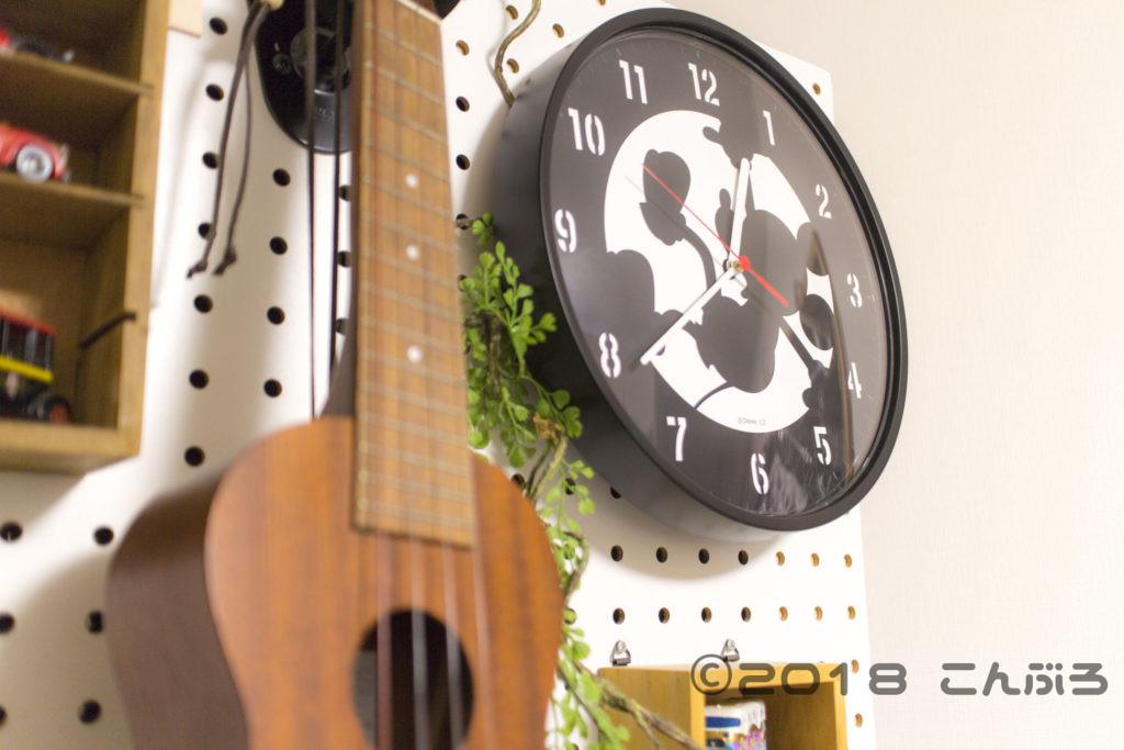 ミッキーマウス 壁掛け電波時計