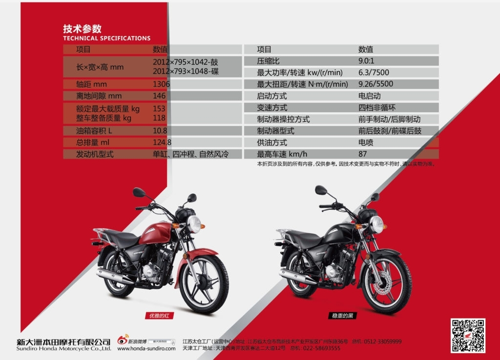 CBF125Tカタログ3