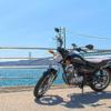 一眼レフとPhotoshopでHDRで加工したバイク風景