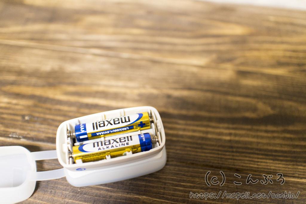 パルスオキシメーターに電池