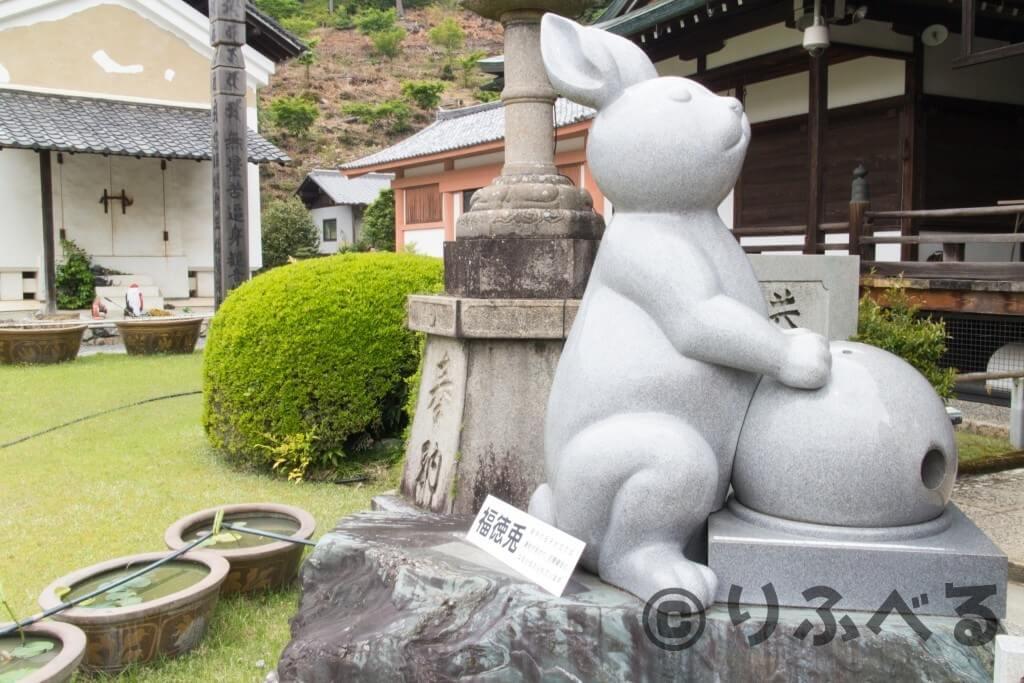 三室戸寺の福徳兎