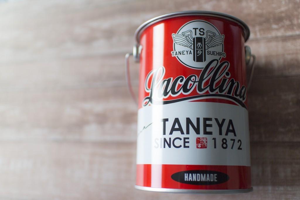 たねやラコリーナギフトショップ限定ふくみ天平の缶