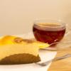 ベイクドチーズケーキと紅茶のセット